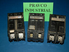 Lot of 3 General Electric Type Hacr Circuit Breaker 30Amp 120/240Vac 2Pole