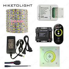 5M 5050 Color Temperature Adjustable Dual White CCT LED Strip+Controller+Adapter