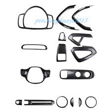 ABS Carbon Fiber Car Interior Kit Cover Trim For Mercedes-Benz SMART 2010-2014