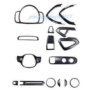 ABS Carbon Fiber Car Interior Kit Cover Trim For Mercedes-Benz SMART 2010-2014