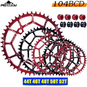 104BCD 40/42/44/46/48/52T MTB Bicycle Chainwheel MTB Bike Narrow Wide Chainring