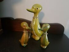 Vintage Hong Kong Plastic Duck Family on Chain Figurine Toys