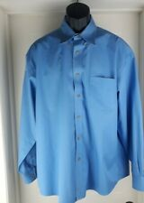 Enro Shirt Button Down Long Sleeve Size Large Blue