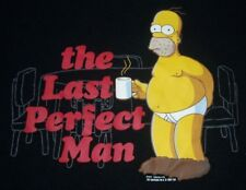 Vintage The Simpsons Homer Simpson The Last Perfect Man T Shirt XXL NWOT