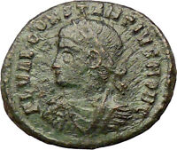 CONSTANTIUS II Constantine the Great  son Ancient Roman Coin Camp Gate i29251