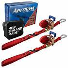 "Aerofast Motorcycle Ratchet Strap 1.5"" x 8"" Heavy Duty Tiedown - Soft Loop Sy..."