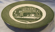 """Royal China Colonial Homestead Green Dinner Plate 10"""""""
