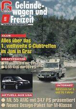 Mercedes G-modelo G-clase todoterreno ocio revista folleto 1999 12