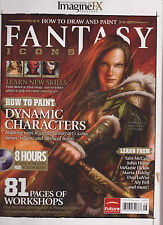 IMAGINE FX MAGAZINE HOW TO DRAW AND PAINT FANTASY ICONS+LOADED CD! DYNAMIC CHARA