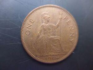 1964  Queen Elizabeth Second  Penny,  Uncirculated
