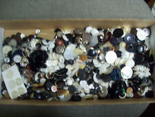 BUTTON LOT  200 + buttons - black and pearl - many sets