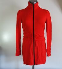 Joseph Ribkoff Women's Red Full Zip Stretch Ruched Long Sleeve Jacket Size 6