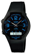 New Quartz Men's Casio Unisex Classic Alarm Dual Time Display Watch AW-90H-2BVDF