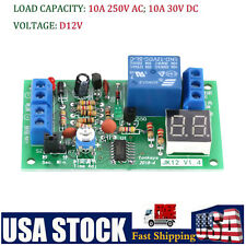 Dc12v Timer Module Delay Led Display Countdown Turn Off Switch Module Adjustable