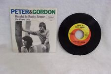 PETER & GORDON - THE FLOWER LADY / KNIGHT IN RUSTY ARMOR - 7 INCH 45 RPM RECORD