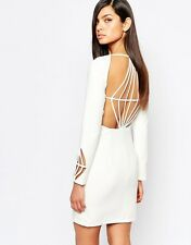 The 8th Sign Pencil Dress With Diamond Cut Out Back UK 6