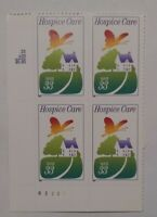 Hospice 33 Cent US Postage Stamps Block of 4