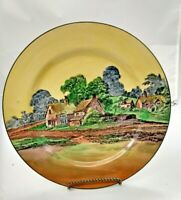 Antique Royal Doulton Collector Plate. Vintage 1928-1936 Country Cottage Scene