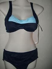 Solar Bikini  Größe 38 B mit Softschalen Bandeau Blau Neu