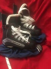 Bauer Vapor X300 Ice Skates Size Y9R With Blade Guards