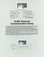 #8417 20c Health Research Stamp - Scott #2087 USPS Souvenir Page