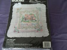 Bucilla 'Home Sweet Home' pillow embroidery- Home Decor Collection NEW