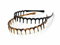 Tort Brown and Black Wave Headbands with Teeth