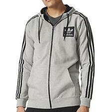adidas Originals Men's Street Essentials Full Zip Hoodie Grey AJ8086