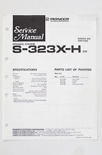 PIONEER S-323X-H Orig. Speaker System Service-Manual/Anleitung/Schaltplan! o68A