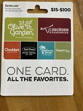 $25 Olive Garden Longhorn Steakhouse Cheddar's Gift Card With Activation Receipt