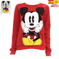 mickey mouse disney Sudadera roja para mujer,hombre niño, niña,suave
