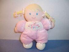 CARTER'S DOLL - CHILD OF MINE - MY FIRST DOLL - BLONDE BRAIDS  PINK/ WHITE - VGC