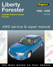 Subaru Liberty 1998-2006 Workshop Repair Manual witn MPN GAP05530