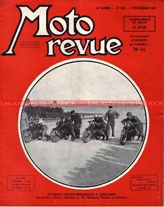 MOTO REVUE  903 LHERITIER MONNERET THOMAS ANDERSON Montlhéry ; Salon 1947