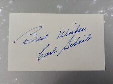 Carl Scheib Signed 3x5 Index Card