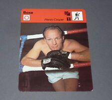 FICHE BOXE BOXING 1966 HENRY COOPER GRANDE-BRETAGNE POIDS LOURDS GREAT-BRITAIN