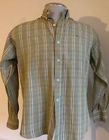 Lacoste Men's Striped Green Long Sleeve Shirt Size (40) Cotton # B15