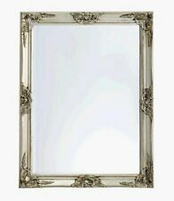 opulenter prachtvoller wandspiegel barockspiegel m. facettenschliff 70x90 silber