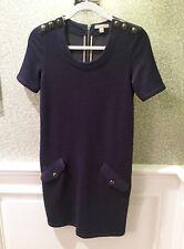 BURBERRY BRIT Women's Sweatshirt Dress, Denim Blue - Sz 2, XS