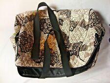 NEW Vera Bradley Womens Carry On Shoulder Bag Black White Floral Pattern