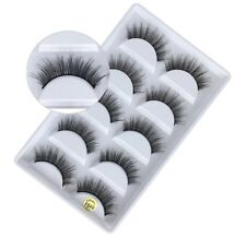 f3a8e101b0a NEW 5Pair 3D Mink False Eyelashes Wispy Cross Long Thick Soft Fake Eye  Lashes