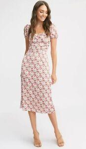 KOOKAI Floral Midi Dress sz 38