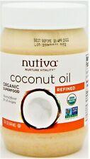 Nutiva Nurture Vitality USDA Organic Refined Coconut Oil Non-GMO 15oz