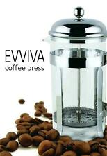 French Coffee Press With Stainless Steel Scoop, 8 Cup, Tea, by Evviva, Brand New