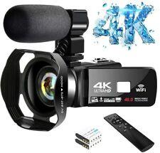 Video Ultra HD Camcorder Night Vision Digital Camera WiFi B A Vlogger YouTube