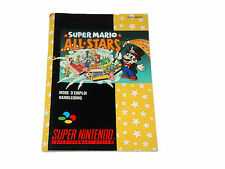 SUPER MARIO ALL STARS snes MANUAL ONLY Super Nintendo French Dutch