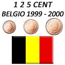 1 + 2 + 5 CENT 1999 - 2000 BELGIO BELGIEN BELGIUM BELGIQUE BÉLGICA - FDC UNC