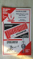 1979/80 League Programme: LIVERPOOL v. SOUTHAMPTON
