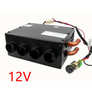 Car Truck 12V Underdash Compact Air Heater Warmer Heat Speed Switch Defroster