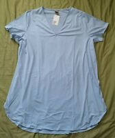 H&M Women's Pale Blue V Neck Top Size 2XL XXL New With Tags